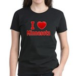 I Love Minnesota Women's Dark T-Shirt