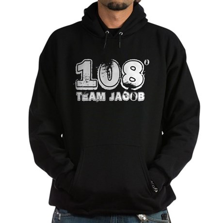 108 Degrees (White) Hoodie (dark)