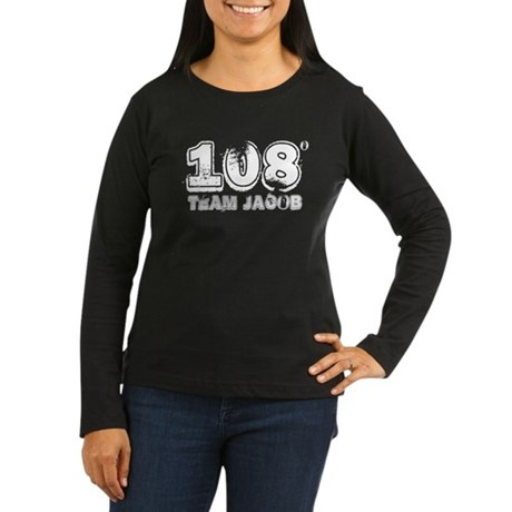 108 Degrees (White) Women's Long Sleeve Dark T-Shi