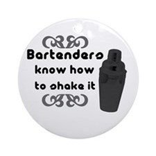 Bartenders Shake It Ornament (Round)