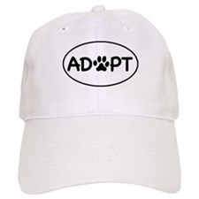 Adopt White Oval Baseball Cap