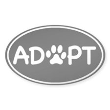 Adopt Black Oval Oval Decal