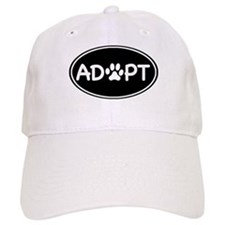 Adopt Black Oval Baseball Cap