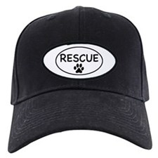 Rescue White Oval Baseball Hat