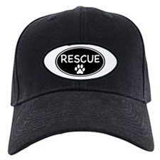 Rescue Black Oval Baseball Hat