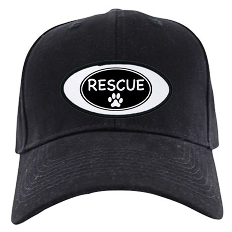 Rescue Black Oval Black Cap