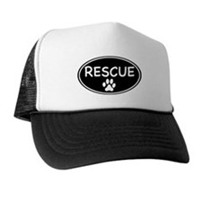 Rescue Black Oval Trucker Hat