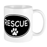 Rescue Black Oval Mug
