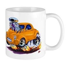 1941 Willys Orange Car Mug