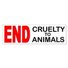 END Cruelty to Animals Bumper Sticker (50 pk)