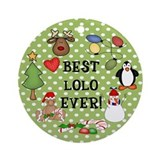 Best Lolo Ever Christmas Ornament (Round)