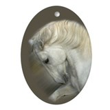Lipizzan Oval Ornament