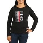 Car Grafiti Women's Long Sleeve Dark T-Shirt