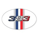 383RWB Oval Sticker (50 pk)