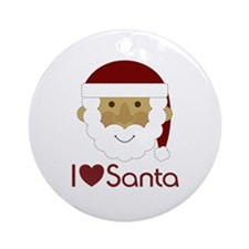 I Heart Santa Ornament (Round)