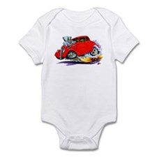 1933-36 Willys Red Car Infant Bodysuit