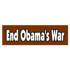 End Obama's War Peace Antiwar Bumper Bumper Sticker