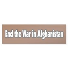End the war in Afghanistan Peace Bumper Bumper Sticker