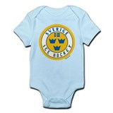 SE Sweden/Sverige Hockey Infant Bodysuit