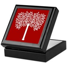 White Tree Graphic Keepsake Box