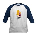 Skater Chick Kids Baseball Jersey