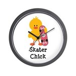 Skater Chick Wall Clock