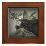 Timnah African Grey Framed Tile