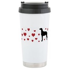 Scottish Deerhound Ceramic Travel Luv Mug