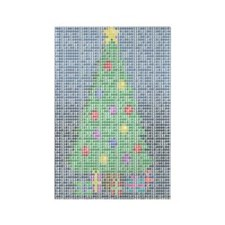 Binary Christmas Carol - O Ta Rectangle Magnet (10