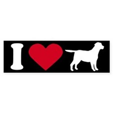 I Love my Labrador ~ Bumper Bumper Sticker