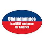 Obamanomics Oval Sticker