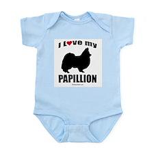 I Love my Papillion ~  Infant Creeper