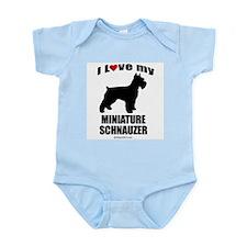 I Love my Schnauzer ~  Infant Creeper