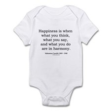 Mahatma Gandhi 10 Infant Bodysuit