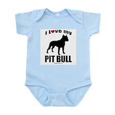 I Love my Pit Bull ~  Infant Creeper