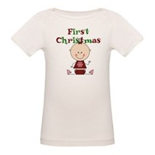 Baby Girl First Christmas Tee