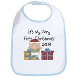 Boy 1st Christmas 2012 Bib