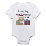 Boy 1st Christmas 2012 Infant Bodysuit