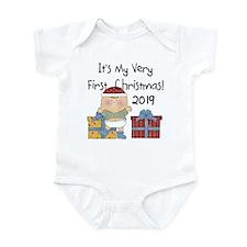 Boy First Christmas 2014 Infant Bodysuit