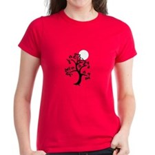 Japanese Tree and Sunscape Yoga Tee