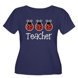 Ladybug Teacher Women's Plus Size Scoop Neck Dark