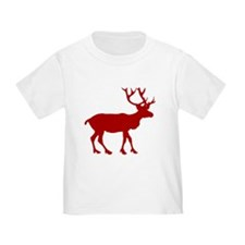 Red And White Reindeer Motif T