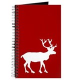 Red And White Reindeer Motif Journal