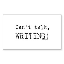 Can't talk, writing Rectangle Decal