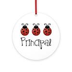 Ladybug Principal Ornament (Round)