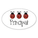 Ladybug Principal Oval Sticker