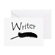 Writer with quill pen Greeting Card