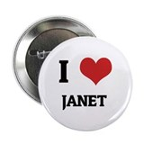 I Love Janet Button