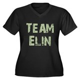 Team Elin Women's Plus Size V-Neck Dark T-Shirt