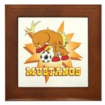 Mustangs Soccer Framed Tile